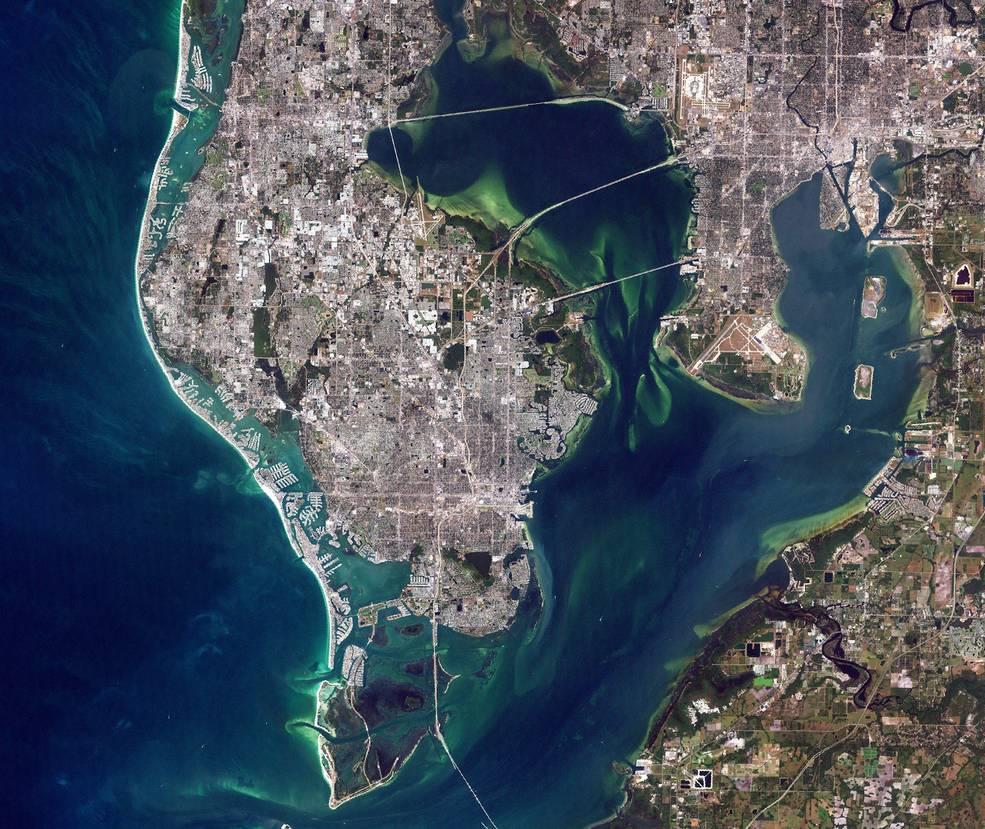 satelite image of central Florida