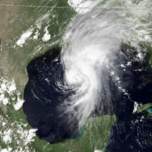 satellite image of Hurricane Bob 1979