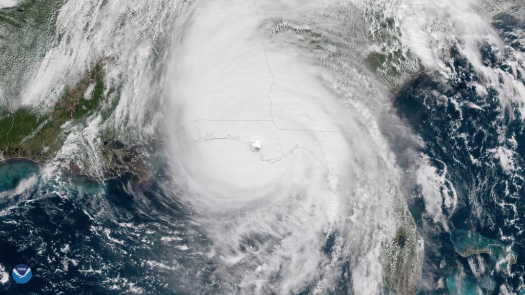 Hurricane Michael satellite image