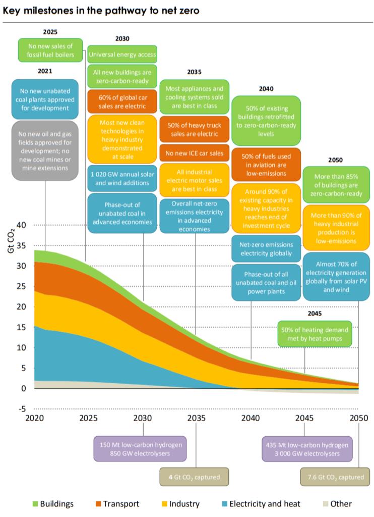 Net Zero 2050 Milestones