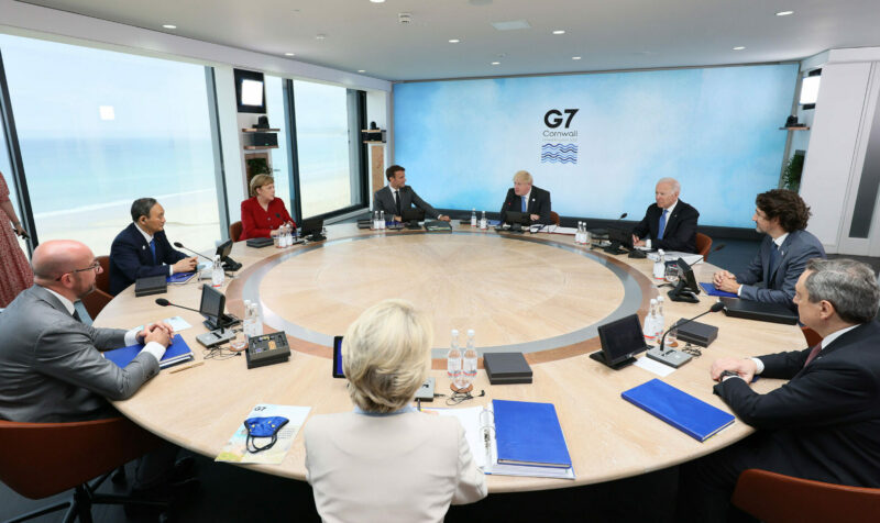 2021 G7 leaders roundtable