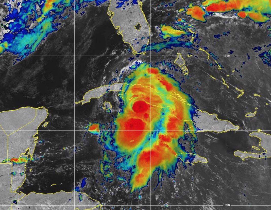 tropical storm Elsa - GOES IR image July 5