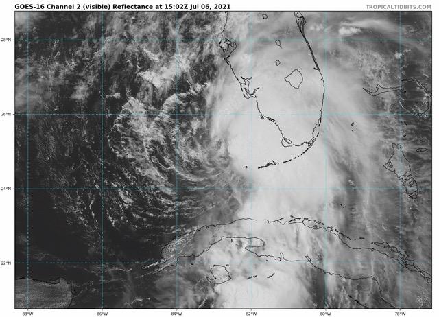 tropical storm elsa GOES image july 6